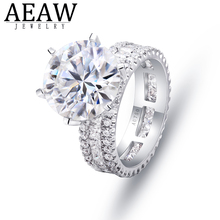 3ct DF Moissanite Round Cut Moissanite Halo Stone Engagement Ring For Women Solid 14K White gold