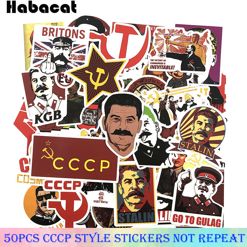 25-50 Pcs/Pack Mixed Stalin USSR CCCP Graffiti Stickers  For Toy Diy Laptop Bicycle Motorcycle Skateboard Waterproof Stickers