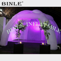 Wonderful Giant Inflatable Tubular Dome with led lighting n side panels 6legs Inflatable spider tent for outdoor party event