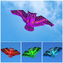 New Cartoon Owl Flying Kites For Children Adult Outdoor Fun Sports Toy