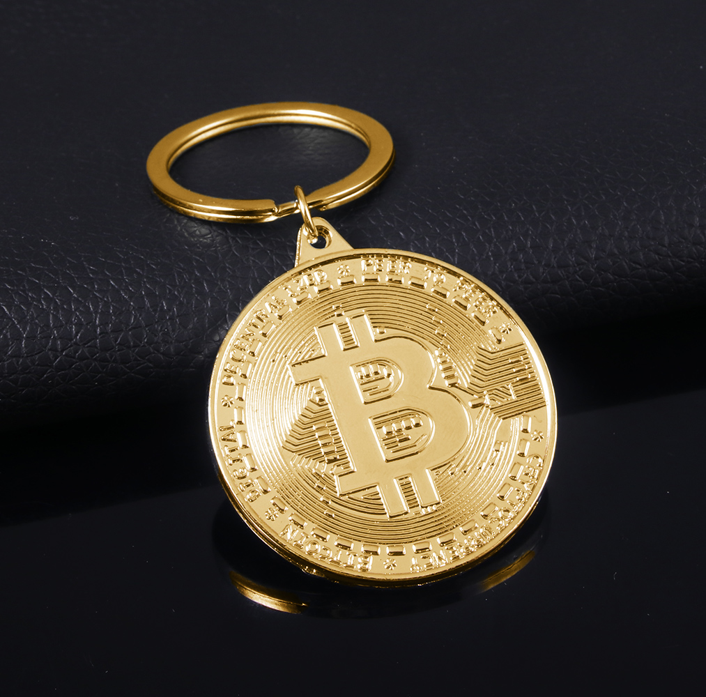 2021 Newest Bitcoin Keychain Music Band Keyring Pendant Women and Men Jewelry Collection Gift 1