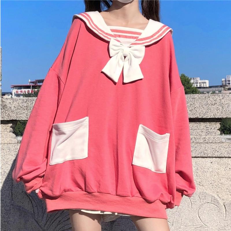Japanese Lolita Long Rabbit Ears School Hoodie 2