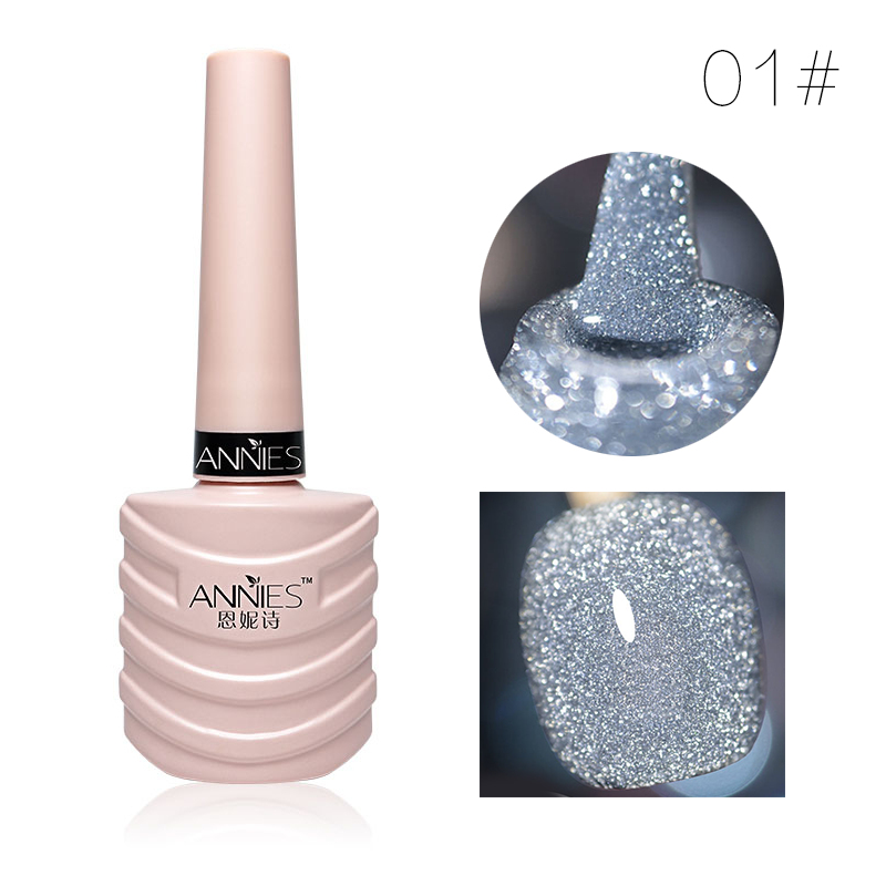 10ml Glitter Nail Gel Polish Nail Art Decoration Crystal Diamond Powder Gel Silver Nail Polish Soak Off UV Gel Polish TSLM2 12
