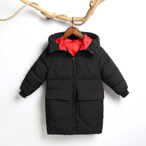 Image 5 -  30 학위 2020 어린이 겨울 아래로 코 튼 자 켓 아기 소녀 파 카 키즈 따뜻한 겉옷 두건 된 코트 snowsuit 오버 코트 소년 옷