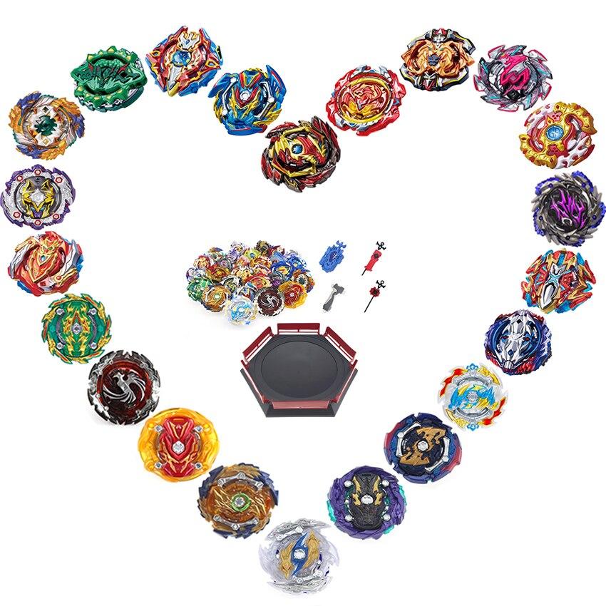 Spin hauts Beyblade Arena stade Toupie Toupie Toupie métal 4D Fusion jouets pour enfants avec poignée de lanceur # E