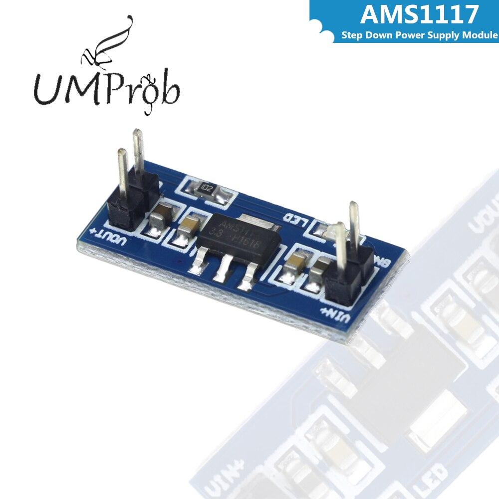 AMS1117 4,5 в-7 в поворот 3,3 В DC-DC понижающий блок питания для arduino Diy Kit