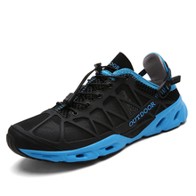 Men Breathable Hiking Shoes Women Outdoor Sport Shoes Durable Camping Trekking Climbing Shoes Non Slip Unisex Hiking Sneakers