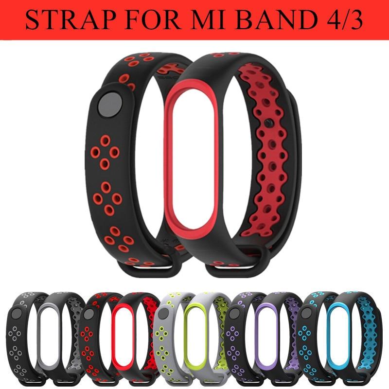 Mi Band 3 4 Strap Bracelet Wrist  Wach Xiomi Mi Band3 4 Accessories Smart Brtacelet Sport Silicone Strap For Xiaomi Mi Band 4 3