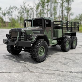 MN-77 2.4G 1:16 4WD Off-road Military RC Car LED Lights RTR Metal C-shaped Girders Four-wheel Drive