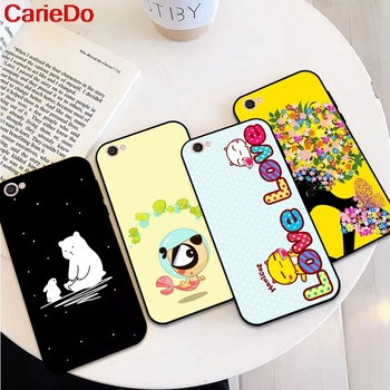 CarieDo Girl 3 Soft TPU Case Cover For Vivo Y71 Y83 Y81 Y51 Y93 Y97 Y91 Y95 V11i Z3i Z3 X21UD Z5X X27 V15 S1 Pro image