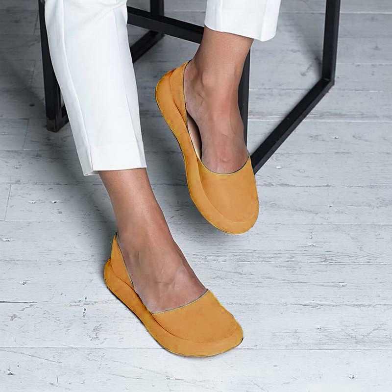 Nieuwe Schoenen Vrouwen Zomer Slip Op Sandalen Back Strap Flats Vrouwelijke Boten Schoenen Peep Toe Confort Toevallige Vrouwen Sandalen