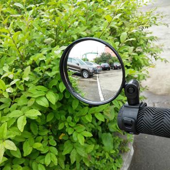 Rowerowe lusterka wsteczne na kierownicę rowerowe lusterko wsteczne MTB Bike silikonowy uchwyt lusterko wsteczne tanie i dobre opinie CN (pochodzenie) OD000425