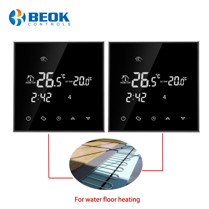 2 Pcs/pack Smart Thermostat Temperature Controller Water Warm Floor Heating Connecting Valves And Actuators