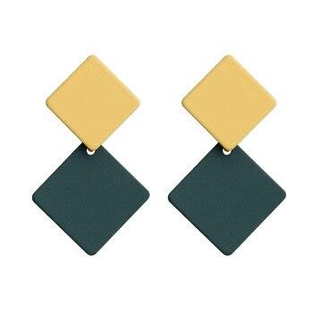 Earring For Women Girls Dangler Eardrop Summer Bohemian Fashion Cute Geometric Round Gift Party Colorful Jewelry 3