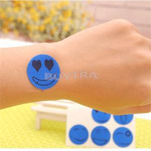 6Pcs/Bag Smile Face Type Mosquito Repellent Stricker  Anti Mosquito Tools For Baby Mosquito Repellent Patch Color Random