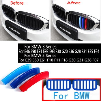 For BMW Series 3 5 E46 E60 E90 E91 E92 E93 F30 F07 G20 E36 G28 F35 F34 E39 E61 F10 F11 F18 G30 M Car Front Grille Trim Strips image