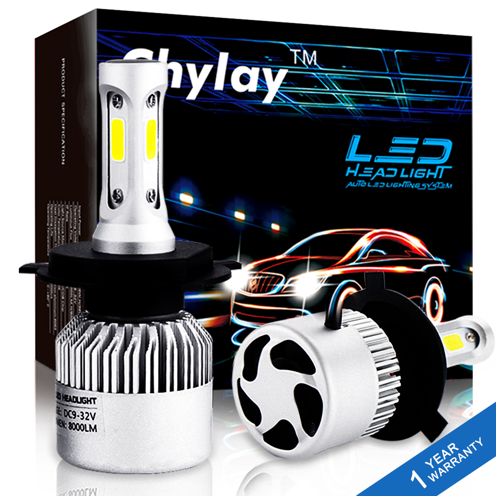 2Pcs H4 LED H7 H11 H1 H3 HB4 H8 HB3 H27 9005 9006 Auto Car Headlight 72W 8000LM High Low Beam Light Automobiles Lamp 6500K Bulb