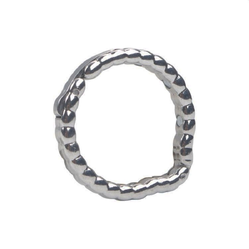 Adjustable 5 Size Metal Penis Lock Cock Ring Bondage Ball Stretcher Male Delay Time Ejaculation BDSM Sex Toy For Men