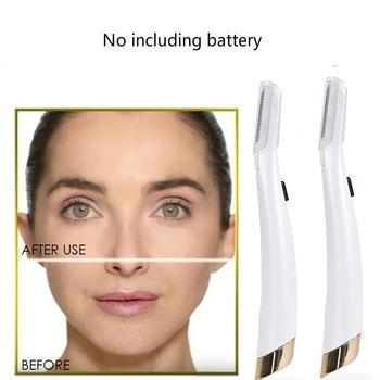 Dermaplane twarzy depilator twarzy Glow Expoliator elektryczny Glo oświetlony Lady Razor Shaver bezbolesne Expoliates martwa skóra narzędzie tanie i dobre opinie Kobiet Baterii stainless steel oi7745 Face po09
