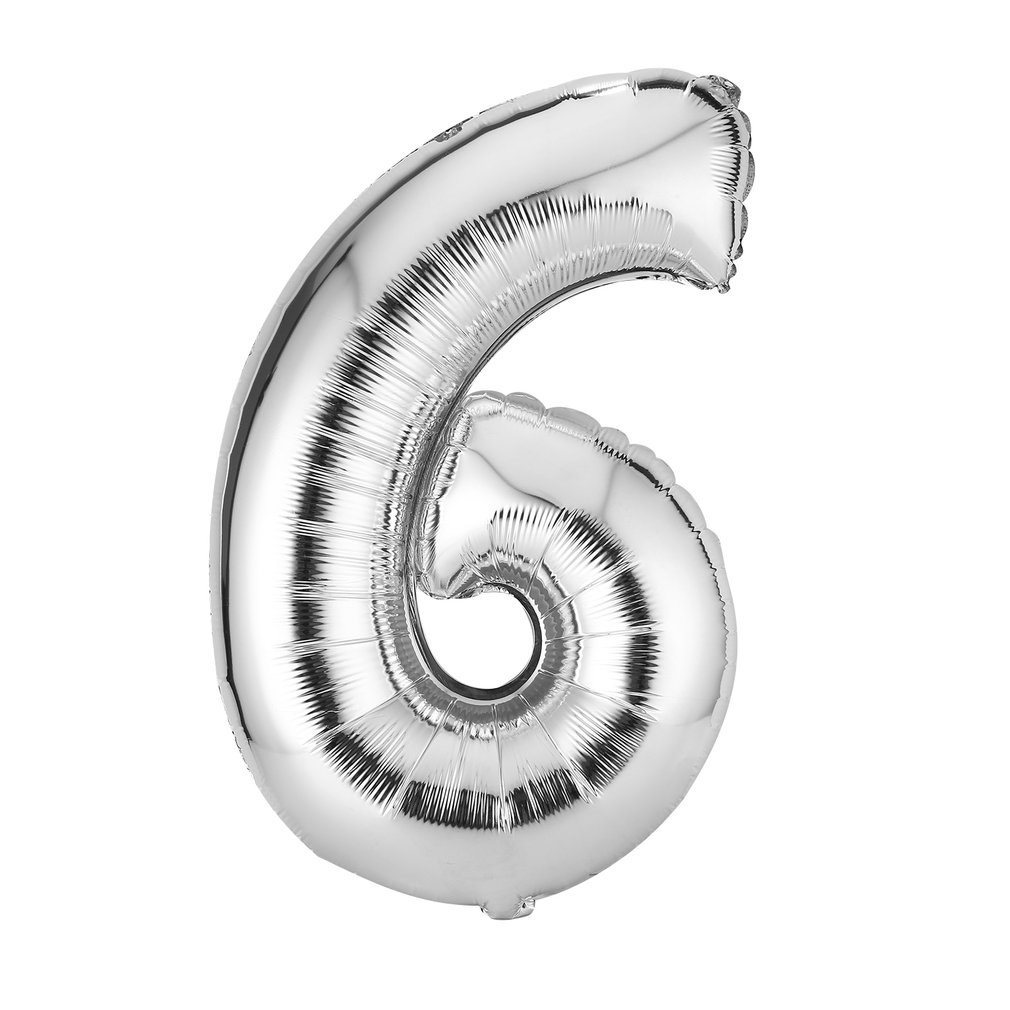 30 Inches Silver Number Birthday Balloons Digit Foil Helium Ballons Party Wedding Event Air Balloon Inflatable Toy For Kids Hot
