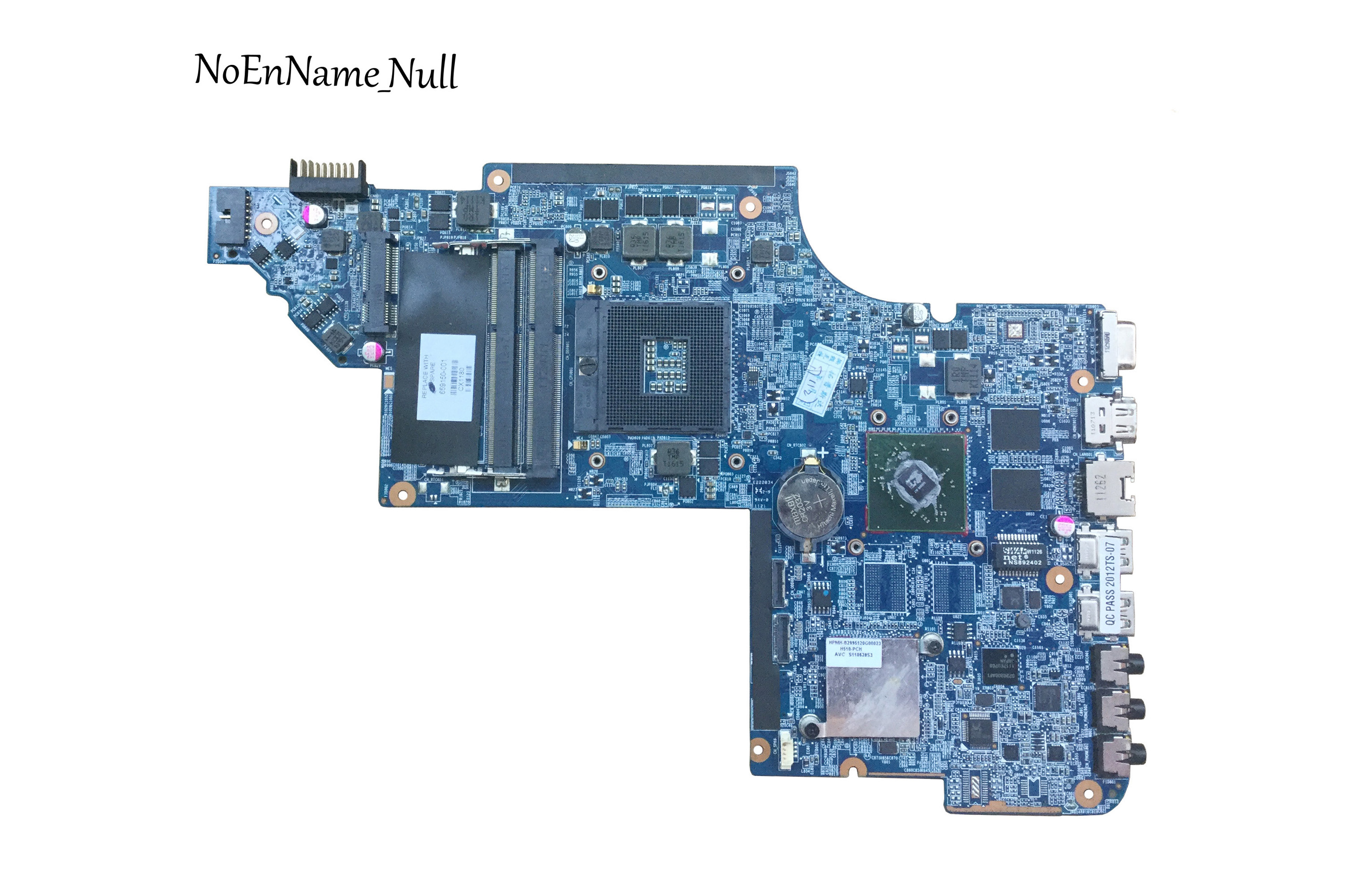 Free Shipping Original Laptop Motherboard 659150-001 For HP Pavilion DV6-6000 DV6 Motherboard DDR3 HD6470M 1G Tested OK