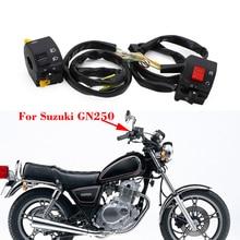 Piezas para manillar de motocicleta Suzuki, interruptor de Control izquierdo y derecho, GN250, GN 250