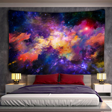 Wall-Tapestry Boho-Decorations Hanging Planet Psychedelic Galaxy 3D Yes Polyester High-Quality