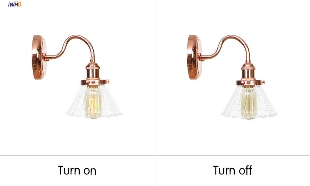 BA120玫瑰金+透明罩 开关灯对比图英文版