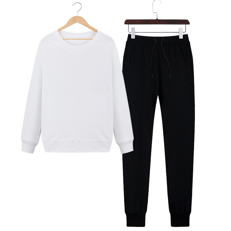 Spring And Autumn Men Trend Long Sleeve Trousers Simple Slim Fit Breathable And Comfortable Stylish Crew Neck Fashion Hoodie Sui