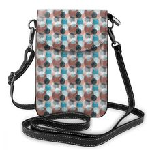 NOISYDESIGNS Women Shoulder Bags Pu Leather Phone Mandalas in Teal Coral Wallet Messenger Bag Carteras Mujer de Hombro Bolsos