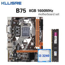 Core I3 3240 DDR3 Kllisre B75 NVME Memory SATA3 M.2 Desktop with 8GB 1600mhz/Ddr3/Desktop/..