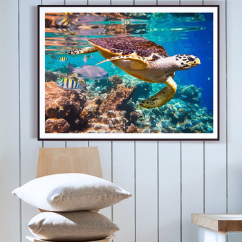 DIY Daimond Painting tortoise 5D Daimond Embroidery turtle Full Square/round Cross stitch Rhinestones home decoration M1053 image