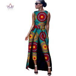 موضة جديدة أفريقيا القطن طباعة رومبير الأفريقية بازان الثراء بذلة للنساء Dashiki اللياقة البدنية بذلة لسيدة WYD8