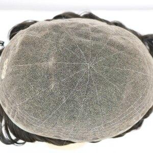 Image 2 - Peluca de cabello humano brasileño para hombre peluquín de aspecto Natural con encaje suizo completo, reemplazo de Peluca de cordón, Remy