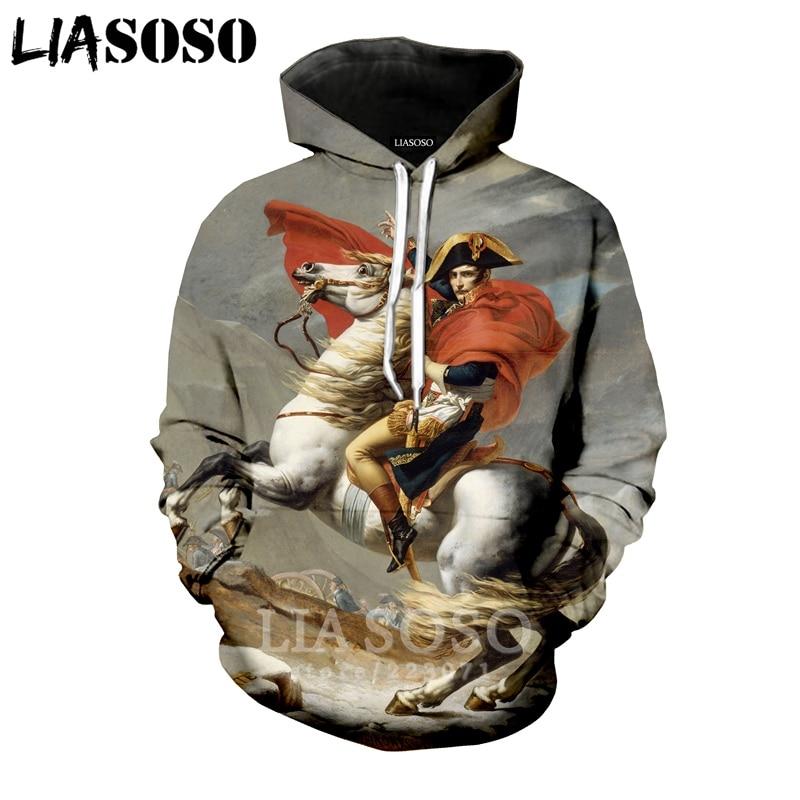 LEOUMAOYE RivalSons Mens 3D All Print Hooded Sweatshirt