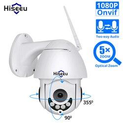 Hiseeu 1080P WiFi IP Camera PTZ 5x Optische Zoom Speed Dome Camera Outdoor Waterdichte 2mp CCTV Surveillance 2 Manier audio Onvif