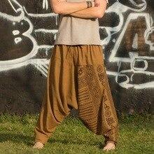 Мужские модные свободные штаны с принтом, новинка, мужские хип-хоп штаны, повседневные штаны в этническом стиле размера плюс, спортивные штаны для бега, шаровары