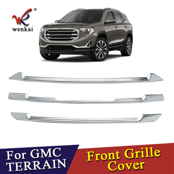 For GMC Terrain 2018-2020 ABS Chrome Front Grille Trim Cover Car Accessories фото