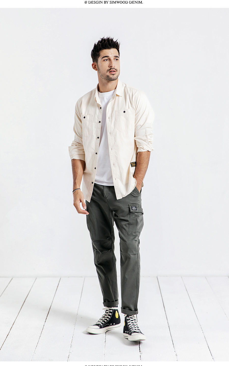 Hbff3ee0708f74ac8a1ee2efd01904a6fk SIMWOOD New 2019 Casual Pants Men Fashion track Cargo Pants Ankle-Length military autumn Trousers Men pantalon hombre 180614