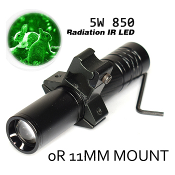 products 5W 850nm LED Infrared IR Flashlight Long Range Infrared 10W IR 850nm T50 LED Hunting Light Night Vision Torch 18650 10 infrared red storm 850nm night vision device fill light monitoring camera light source led focus long shot flashlight