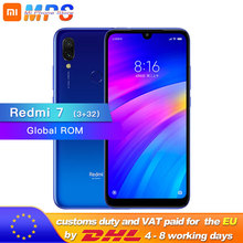 Küresel ROM Xiaomi Redmi 7 3GB 32GB Smartphone Snapdragon 632 Octa Çekirdek 4000mAh 12MP Kamera 1520x720 6.26 Tam ekran