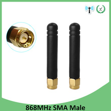 10pcs 868MHz 915MHz Antenna 3dbi SMA Male Connector GSM 915 MHz 868 antena outdoor signal repeater antenne Lorawan