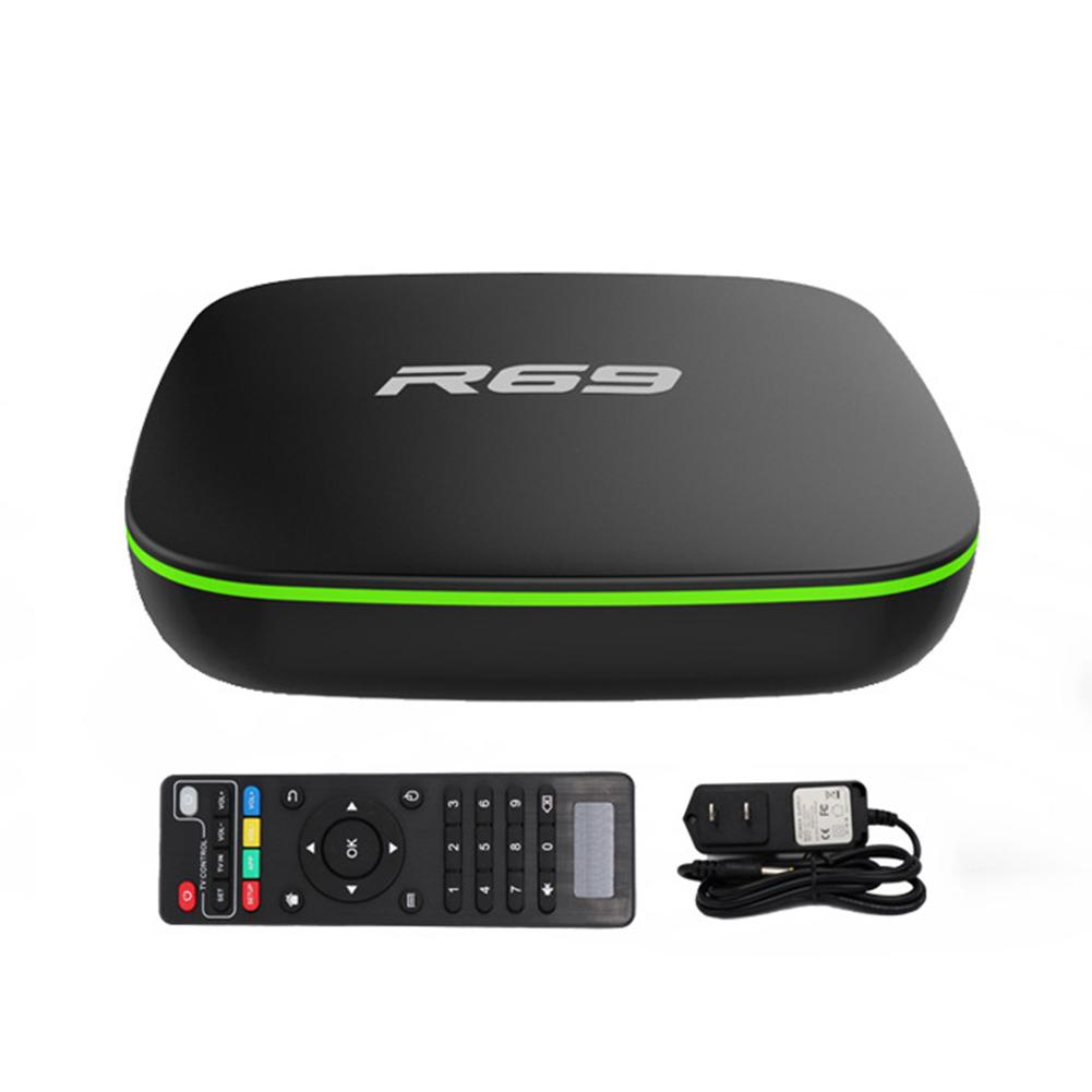 R69 Android TV BOX Android 7.1 Smart TV Box 2GB 16GB Amlogic S905W Quad Core 2.4GHz WiFi Set Top Box 1GB8GB