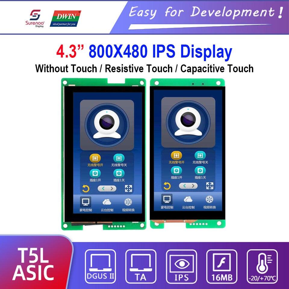Dwin T5L HMI Intelligent Display, DMG80480C043_01W / 02W 4.3