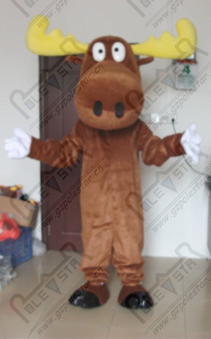 quality brown reindeer mascot  costumes cartoon deer mascot design