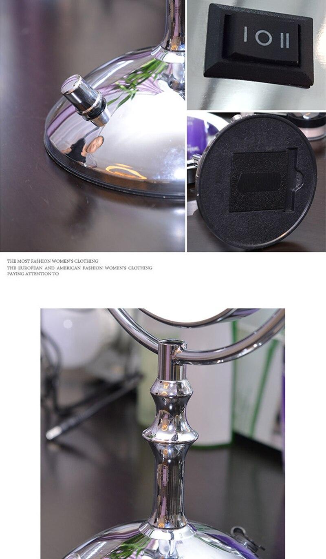 2-face espelho de metal 3x 5x 10x