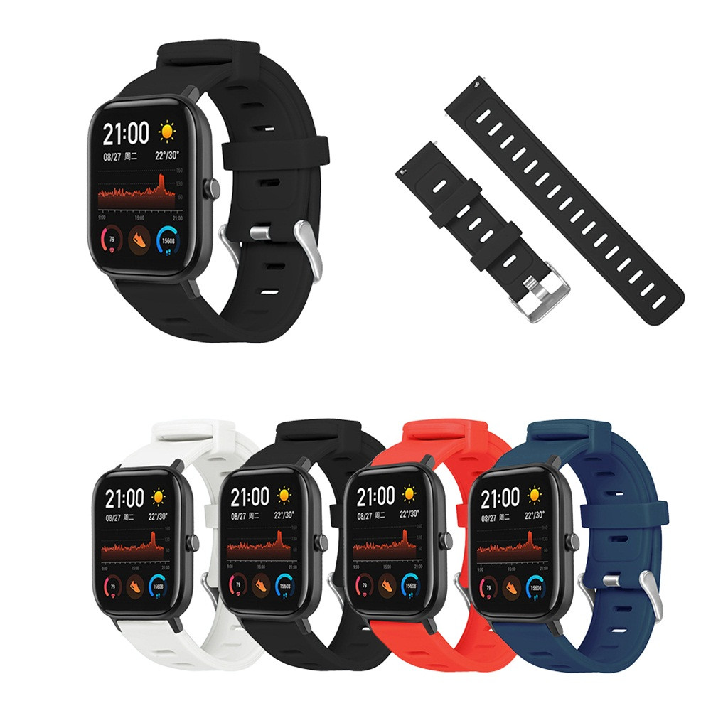 Sport Silicone Straps For Huami Amazfit GTS Replacement Wrist Band Xiomi Xaomi Smart Watches Strap Correas De Reloj