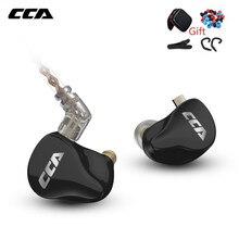 Cca CA16 7BA + 1DD Hybrid Drivers In Ear Oortelefoon Met 2PIN Kabel Hifi Monitoring Headset Voor Kz Zsn Pro zst Zsx C12 C16 A10 Z1D
