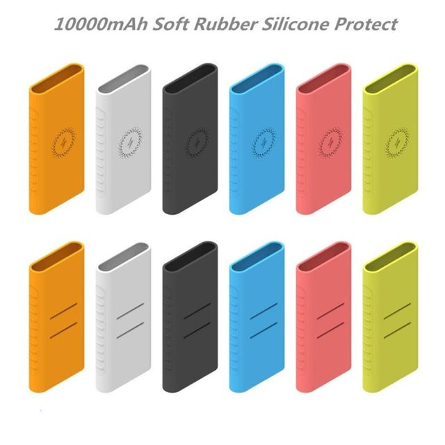New Silicone Protector Case For xiao mi powerbank 10000mAh PLM11ZM Wireless Powerbank Accessories Case WPB15ZM and PLM13ZM Case 1