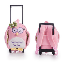 New 11inch Cute Cartoon Backpack Wheel Kids Dinosaur Rolling Luggage Trolley Children Travel Bag Student Cabin Trunk